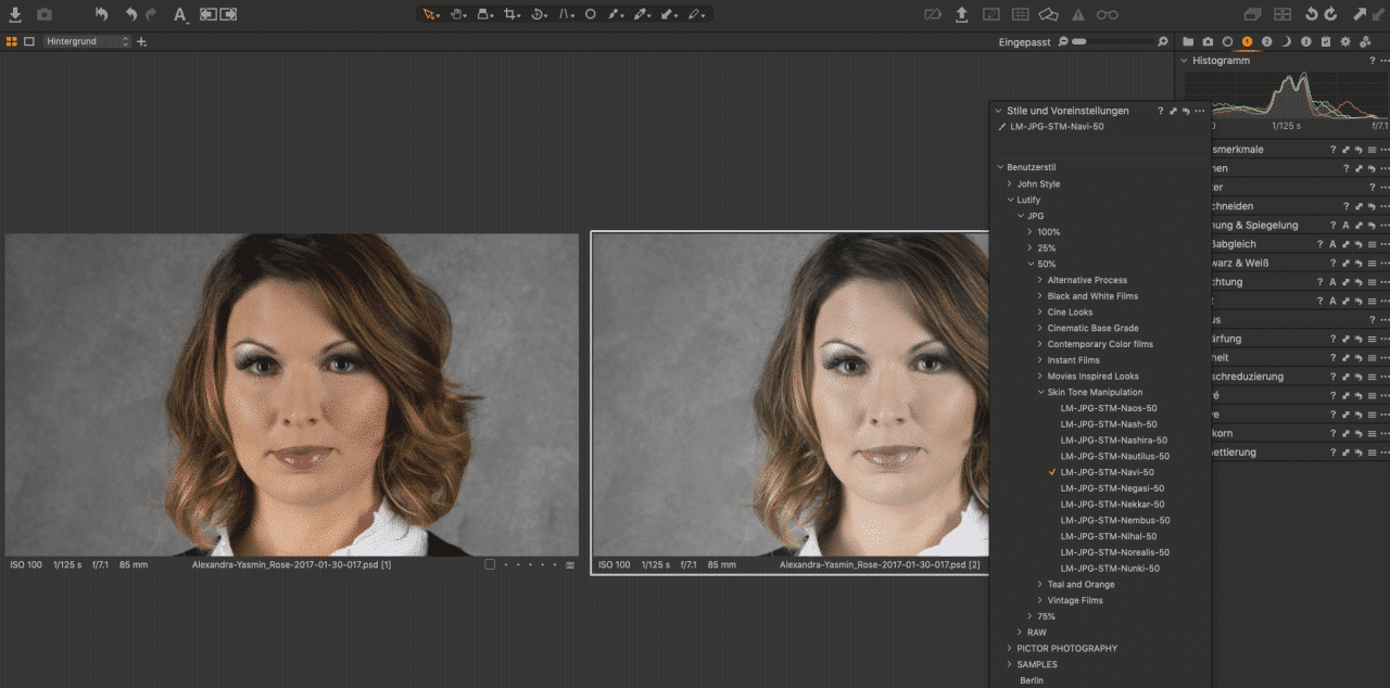 Lutify in Capture One Pro